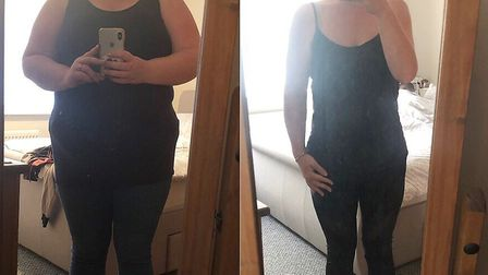 Before and after pictures of slimmer Stevie Mitchell. Pictures: supplied by Stevie Mitchell
