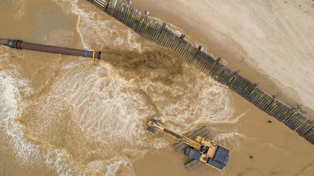 Sandscaping project on the north Norfolk coast. Picture: Chris Taylor Photography