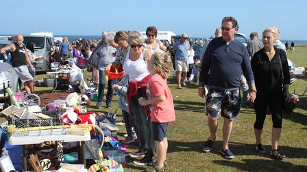 Stallholders at the carnival car boot enjoyed busy day.Photo: KAREN BETHELL