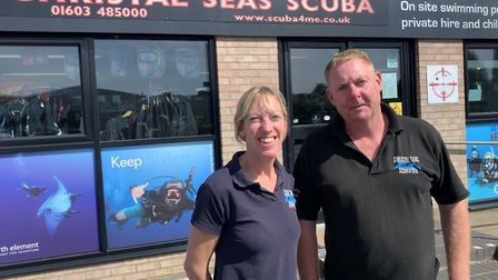 Polly and Chris Wake, who run Christal Seas Scuba in Norwich, often visit shipwrecks off the north N
