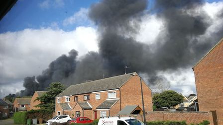 Firefighters were at a farm fire in Southgate, near Reepham, for more than 36 hours. Picture: Archan