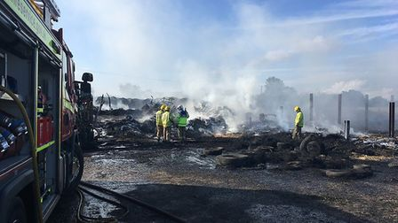 Police are treating a blaze at a farm on Bird's Lane in Southgate as arson. Picture: Archant