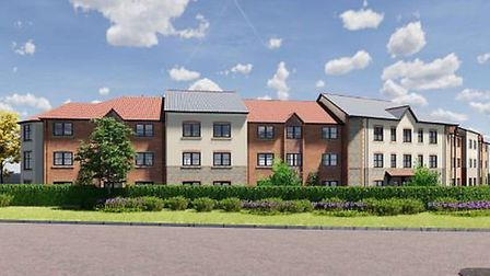 Artist's impression of the proposed 66-bed care home in Holt. Image: Planning documents/LNT