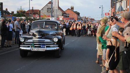 The 1940s weekend military vehicle parade at Sheringham.Photo: KAREN BETHELL