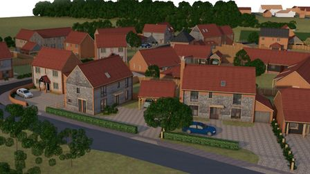 New housing development in Back Lane, Roughton. Picture: Planning documents