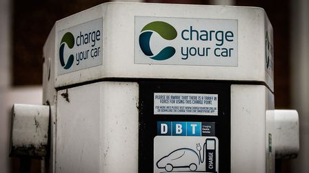 File picture of an electric car charging point at Hunstanton, Norfolk Picture: Chris Bishop