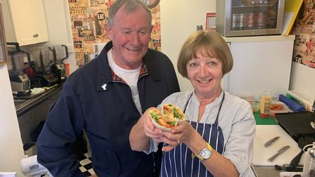 Keith and Dianne Walder at Lily's Sandwich Bar in Cromer. Picture: Stuart Anderson