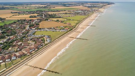 The coastline after the completion of the sandscaping project. Picture: Chris Taylor