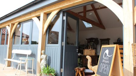 Avocet Antiques has opened a shop at the newly-reburbished Church Farms Barns in Heydon. Picture: Av