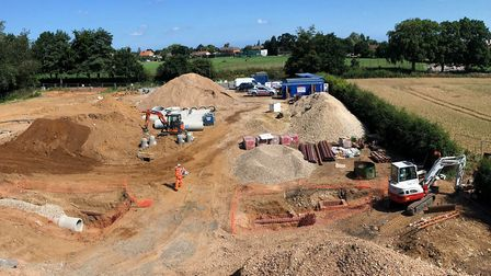 A view of the Aegel Gardens site on Burgh Road, Aylsham. Picture: Mark Howard