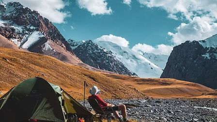 Ashley Hale looking towards the mountains in Kyrgyzstan. Picture: Supplied by Ashley Hale