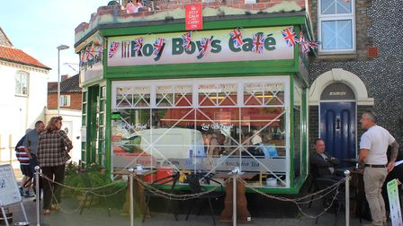 Sheringham cafe Roy Boys, which has been turned into a bombed-out house for the 1940s weekend.Photo:
