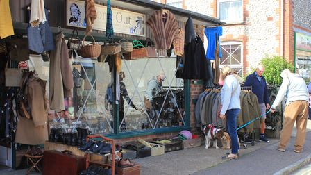 1940s outfits on sale at Sheringham.Photo: KAREN BETHELL