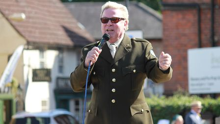1980s icon David Van Day performing in the town centre at Holt's 1940s weekend celebrations.Photo: K