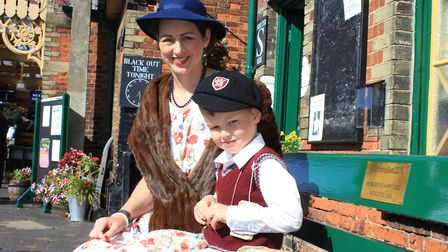 Families joined in the 1940s fun at Sheringham.Photo: KAREN BETHELL