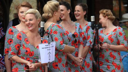 The D-Day Darlings performing at Holt.Photo: KAREN BETHELL