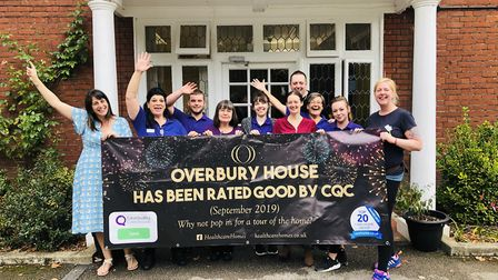 Helen Jackson, left, manager of Overbury House care home in Wroxham, Norfolk with some of her team,
