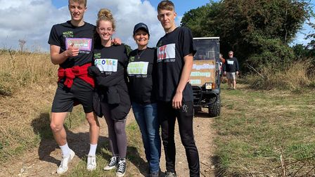 The McCarter family anod others undertook a charity walk after dad, George was diagnosed with Mantle