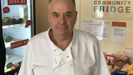Cafe Kitale owner, Rob Scammell thinks the new community fridge in North Walsham is a great idea to