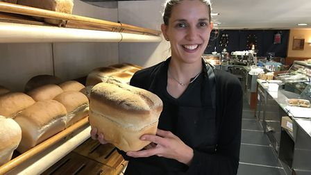 Natasha Williams, owner of Christopher's in North Walsham, will be donating any surplus bread to the