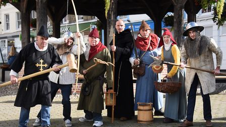 The Battle of North Walsham 1381 Revisited committee as peasants from the Middle Ages ready for the