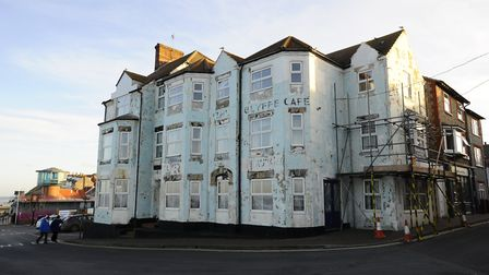 The derelict former Shannocks hotel on the seafront in Sheringham is a prominent eyesore in the Nort