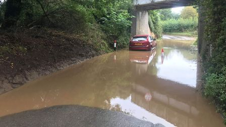 The Ford Fiesta, whcih was left on Hall Road, Cromer. Picture: Abigail Nicholson