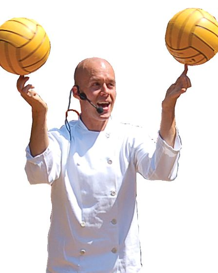 Juggling Chef Ian Marchant. Pictures: supplied by Pat Prekopp