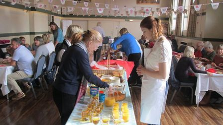 Last year's Aylsham Food Festival. The Big Slow Sunday Brunch. Pictures: supplied by Pat Prekopp