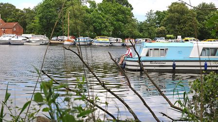 Boats moored on Womack Water. Picture: James Bass