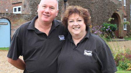 Sheringham B&B owners Ian Abernethy and Christine Hendry, who will be appearing on an upcoming episo