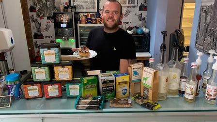 Karl Linturn, owner of Daddy Donuts, at his Stalham cafe. The eatery plans to soon start serving 'do