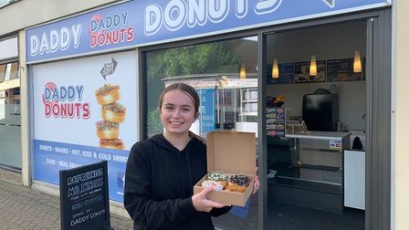 Chloe Mitchell works at Daddy Donuts' in second branch in Riverside Walk, Wroxham, which has recentl