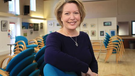 Artist Caroline Burn, who has helped turn Holt's underused community centre into a thriving arts ven