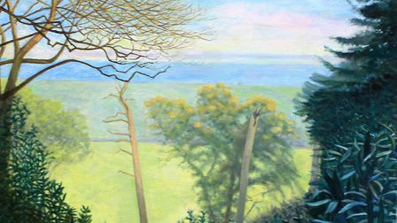 Misty Morning, Sheringham Park, by Leslie Nockels, whose work is on show at The Venue, Holt, as part
