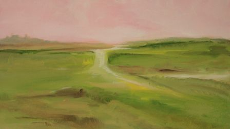 Marsh II, by Maggie Simmons, whose work is on show at The Venue, Holt, as part of an exhbition by no