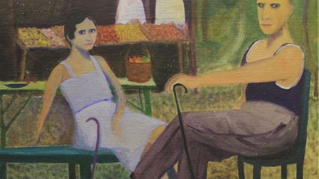 Picnic at Yalta, by Pippa King, whose work is on show at The Venue, Holt, as part of an exhibition b