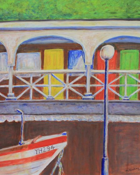 Beach Chalet, Cromer, by Margaret Studley, whose work is on show at The Venue, Holt, as part of an e