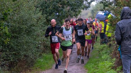 Marriotts Way 10K 2019. Route from Aylsham to Reepham running on the Marriott's Way. Picture: James