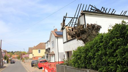 The top floor of the West Runton house hit by fire back in April. Picture: KAREN BETHELL