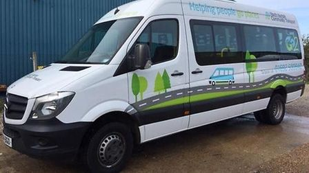 North Norfolk Community Transport's new-look bus, which was given a makeover by students at North Wa