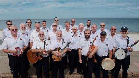 The Sheringham Shantymen, who teamed up with writer, broadcaster and entertainer Keith Skipper to st
