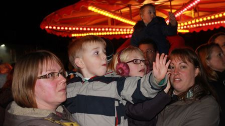 Waiting for the countdown at Aylsham Christmas lights switch-on last year. Photo: KAREN BETHELL