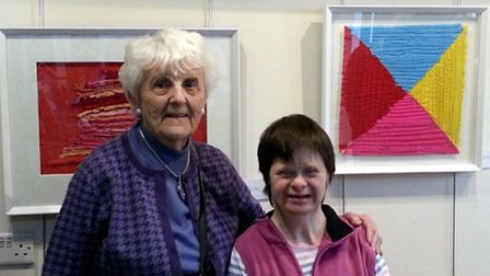 An exhibition of work by Mary Roy, right, with her mother Margaret Roy, is on show in Aylsham. Pict