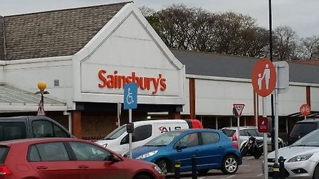 A woman was assaulted outside Sainsbury's in North Walsham. Picture: Google Maps