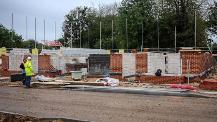 Homes taking shape at the Aegel Gardens development off Burgh Road, Aylsham. Picture: Archant Librar
