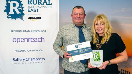 Mark and Gina Wilson-North of MarGins Walking and Glamping Holidays won the Best Rural Tourism Busin