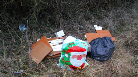 Dumped rubbish in Hindringham. Picture: NNDC