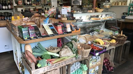 Produce on display at Itteringham village shop, near Aylsham. Picture: Neil Didsbury
