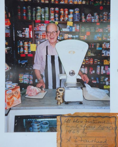 Brian Fairhead, when he and his wife ran the Itteringham Village Shop. Photo: Bill Smith
